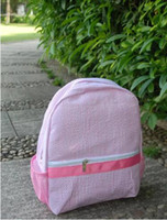 Two Colors Seersucker Toddler Bag Preschool Backpack Can Be ...
