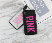 3D-Stickerei Pink Cases für iPhone XS Max Fashion Soft Cases für iPhone XR Note9 S9 S8 Handy-Hüllen