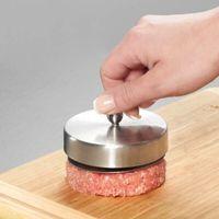 Kitstorm acciaio inox Hamburger stampa Tortini del creatore della muffa a mano Burger Press Accessori Cucina Strumenti di cottura di carne