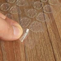 10 fogli / lotto Adesivi per unghie Adesivi per adesivi con avec colle Adesivi biadesivi trasparenti adesivi per unghie Unghie artistiche False punte per unghie