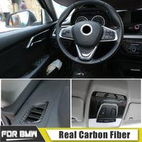 탄소 섬유 내부의 자동차 전면 독서 라이트 커버 에어 아울렛 스티커 BMW 1/2/3 시리즈 X1의 X2의 X5의 X6 2012-2019 스타일링