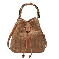 Women' s bag 2020 new woven pumping ladies portable buck...
