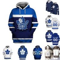 Mens Auston Matthews Toronto Maple Leafs Hoodies Jersey Zach Hyman Mitch Marner Frederik Andersen John Tavares Nazem Kadri Hóquei Jerseys