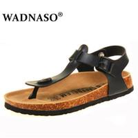 Heißer Verkauf- Summer Beach Cork Slippers Sandalen Casual Doppelschnalle Clogs Sandalen Männer Beleg auf Flip Flop-Schuh-Tropfen-Verschiffen schwarz
