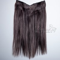 Silky Straight Halo Flip in Human Hair Extensions 613# 4# 1B...
