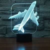 Lights & Lighting Manufacturer Customized Table Lamps For Living Room Novel Products Modern Compact Aircraft Atmosphere 3d Night Desk Lamp High Quality