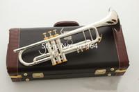 Heißen Verkauf LT180S-37 Trumpet B Flat-Silber überzogener Beruf Trompete Musikinstrumente mit Fall-freiem Verschiffen