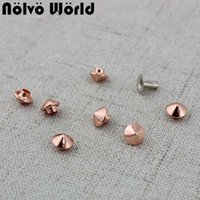 100pcs 6mm Rose gold copper DIY shoes accessories plastic mi...