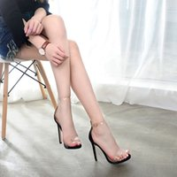 Fashion Open- toed women' s shoes with wrapped heels, tra...