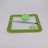 Retail-Silikon-Backmatten Lebensmittelqualität Antihaft-Silikon-Tupfenblatt Quadrat mit Tupferwerkzeug Tupfen-Silikon-Behälter