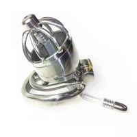 Acciaio Steel Cage Rubinetto con Spike anello catetere uretrale del pene maschio della spina Chastity dispositivo XCXA277-2-jd