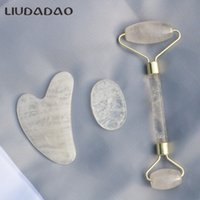 LIUDADAO Face Rollers Jade Clear Crystal Neck Head Skin Care...