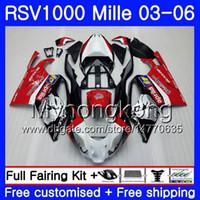 Aprilia RSV 1000R 1000 RV60 Mille Için Vücut RSV1000 R RR 03 04 05 06 316HM.9 RSV1000RR RSV1000R yeni Kırmızı gümüş 2003 2004 2005 2006
