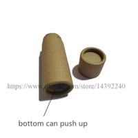 50 pcs 0.5 oz 1 oz 2 oz 2.5 oz embalagens De Papelão marrom Kraft rodada push up lip balm caixa de papel tubos desodorante recipiente tubo de papel eco