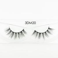 Neue Ankunfts-Quanlity 100% handgemachte 1 Paar 15MM 3D-Echt Mink Lashes Mehrschichtige weiche starke falsche Wimpern 3DM38