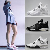 Top Men & Women 4s IV bred Tattoo Basketball Shoes Cactus Ja...