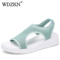Wdzkn 2019 Sandals Women Summer Shoes Peep Toe Casual Flat S...