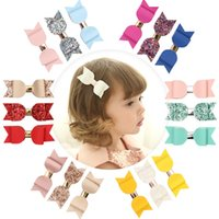 2019 Baby Bow Ribbon Hairpin Clips Girls Large Bowknot Barrette Kids Hair Boutique Archi Accessori per capelli per bambini