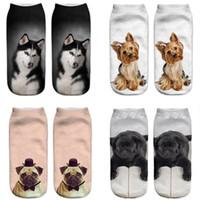 Jungen Mädchen Frauen und Männer 3D Gedruckte Hundesocken Low Cut Söckchen Teenager Niedliche Tiermuster Socken Unisex Socke