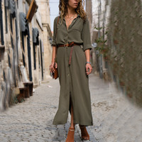 boho long shirts dress for ladies 2019 spring autumn long sl...