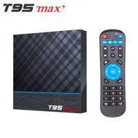T95 Max Artı Akıllı Android 9.0 TV Kutusu Amlogic S905X3 2.4G / 5 GHz WIFI BT 8 K SET ÜST KUTUSU VS Q PLUS