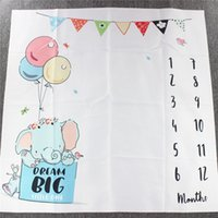 Baby Cartoon balloon Digital Background Blanket Newborn Phot...