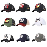 Unisex Embroidered Animals Duck Patch Cap Breathable Mesh Ba...