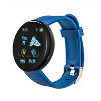D18 ساعة ذكية للرجال ماء النوم المقتفي معدل ضربات القلب Tracke ساعة ذكية الدم الأكسجين ضغط الدم الرياضة ووتش PK D13