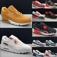 Men Sneakers Shoes Classic 90 Men Women Running Shoes Sports Trainer Cushion 90 Surface Breathable Sports Shoes Eur 36-45