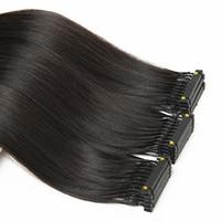 """6d Удлинитель для волос в корректируемой девственнице, выровненные по кутикулы человека могут быть рестайлированным окрашенным отбеленным натуральным цветом шелковистым прямым 28 """""""