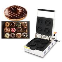 110 v 220 v yapışmaz Fırında Mini Çörek Waffle makinesi Elektrikli Yuvarlak Küçük Donut Makinesi Demir Baker Ocak Yapma Pan