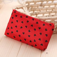 Fashion Creative Heart Printing Cosmetic Bags Cases Cute Pen...
