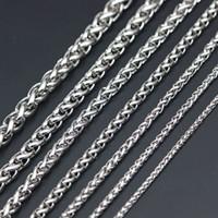 Flachkabel O Biegering Kette 316 Edelstahl Halskette Kette für Frauen Männer Locketanhänger
