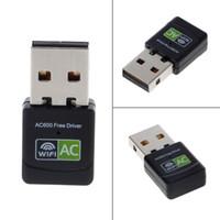 حرة USB سائق إيثرنت محول WIFI 600MB / ثانية 5 جيجا هرتز LAN USB Wi-Fi محول الكمبيوتر الهوائي إنترنت لاسلكي AC استقبال الشبكة اللاسلكية