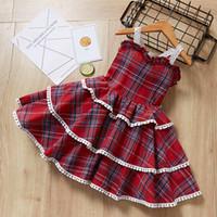 INS vendendo estilo Europeu e Americano menina Suspender Vestido de Verão de alta qualidade de algodão vestido de verão frete grátis