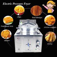 15L Elektrische Druck Fryer Stahl Gewerbliche Huhn Kochmaschine Ente Fisch Fleisch Gemüse-Chips Friteuse MDXZ-16