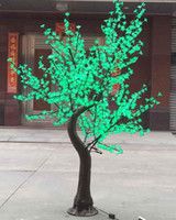 2M 6. 5ft Height LED Artificial Cherry Blossom Trees Christma...