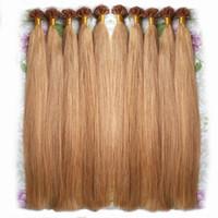 평평한 팁 머리카락 확장 케라틴 퓨전 인간의 머리카락 확장 0.5g 0.7g 1g / s 100strands 고품질 이탈리아 Keratin 공장 직접 싼