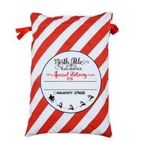 El último soporte de 50x70cm nuevo estilo 20 bolsas de regalo de Navidad dulces de Navidad Bolsa de algodón de Navidad envío libre logotipo personalizado LX2336