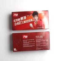 원래 Dhs 40 + 3 별 새로운 셀 듀얼 탁구 공 Ping 탁구 라켓 게임에 대 한 새로운 기술 솔 기 공 도매 20 공 C19041501