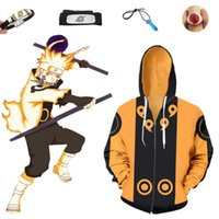 Asya Boyut Anime Naruto Sarı Hokage Ootutuki Hagoromo Unisex Cosplay Kostüm Cadılar Bayramı Ceket Fermuar Hoodie Kafa Yüzük Kolye Bracele