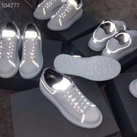 عاكس منصة أحذية رجالية عادية جديد اصلي جلدية أحذية رياضية خفيفة الوزن الكحول الهاتفي أحذية عارضة أحذية Thrick القاع