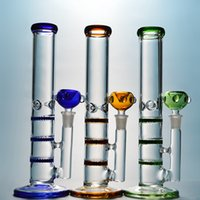 10 Inch Triple Honeycomb Oil Dab Rig Heady Glass Bong With I...