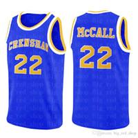 Ncrenshaw High School 22 Quincy McCall Movie College Basket Plaskeys Blue Bianco Sport Shirt Top Quality Blu Bianco