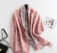 여성의 가을과 겨울 새로운 캐시미어 스카프 양면 자카드 따뜻한 목도리 최고 품질의 컬러 매칭 칼라
