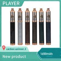 Vision Spinner 3 Batterie Fiber De Carbone 1650mAh Tension Variable VV 3.3-4.8V Batterie Pour 510 Ego CE4 E Atomiseur Cigarette Tan
