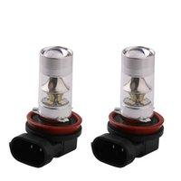 10pcs H4 H7 H8 H11 12SMD 2835 9005 9006 LED 240LM la luz de niebla del bulbo del bulbo auto coche de la lente que conduce el coche 60W DRL de la lámpara 7000K y 8000K
