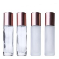 10ml Perfume Roller Bottles Frosted Clear Empty Cosmetic Rol...