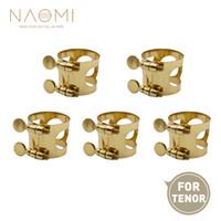 NAOMI 5 ADET Tenor Tenor Saksafon Için Sax Ağızlık Ligature Metal Ligatür Ağızlık W / Çift Vidalar Nefesli Parçaları