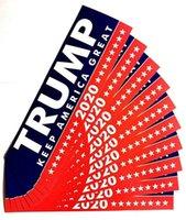 دونالد ترامب 2020 ملصقات السيارات 7.6 * 22.9cm الوفير ملصق الاحتفاظ جعل أميركا مائي عظيم لسيارة التصميم سيارة المقرب أنماط 3 جديد دي إتش إل الحرة